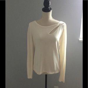 WHBM cream sweater
